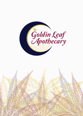 Goldin Leaf Apothecary branding design